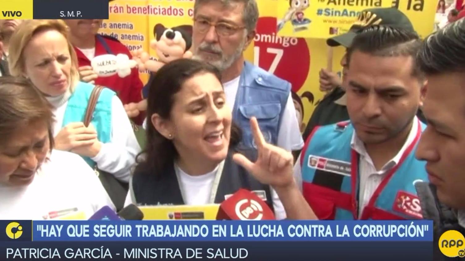 Patricia García cumple sus últimas actividades como titular de Salud en evento contra la anemia