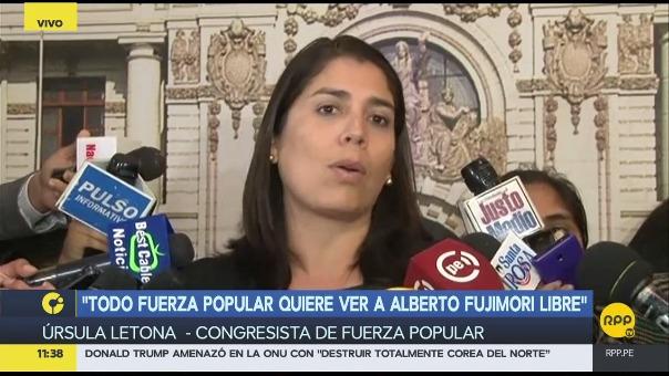 Letona respondió a Kenji Fujimori y aseguró que todos en Fuerza Popular quieren la libertad de Alberto Fujimori.