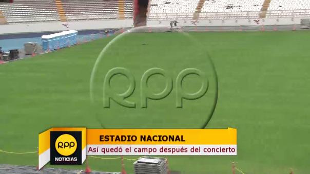 El Estadio Nacional está en mantenimiento luego del concierto de Maroon 5.
