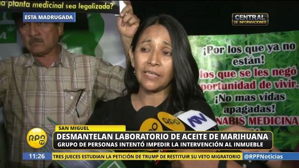 Álvarez se pronunció en contra de la intervención al laboratorio clandestino en San Miguel que se realizó en febrero.