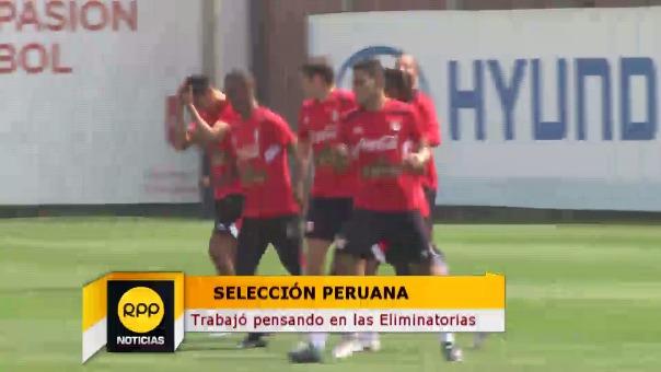 El primer día de entrenamiento de la Selección Peruana.