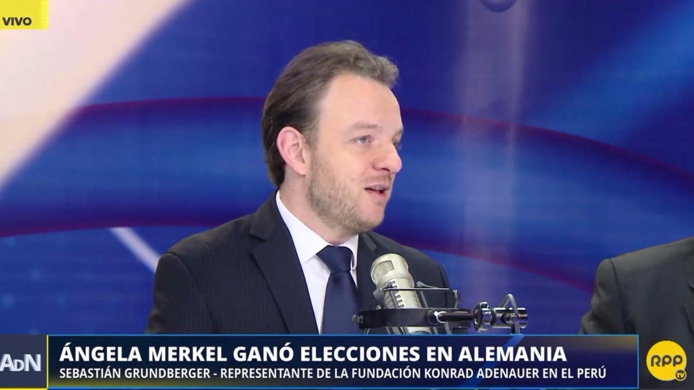 Sebastian Grundberger, representante de la Fundación Konrad-Adenauer-Stiftung en el Perú, en Ampliación de Noticias.