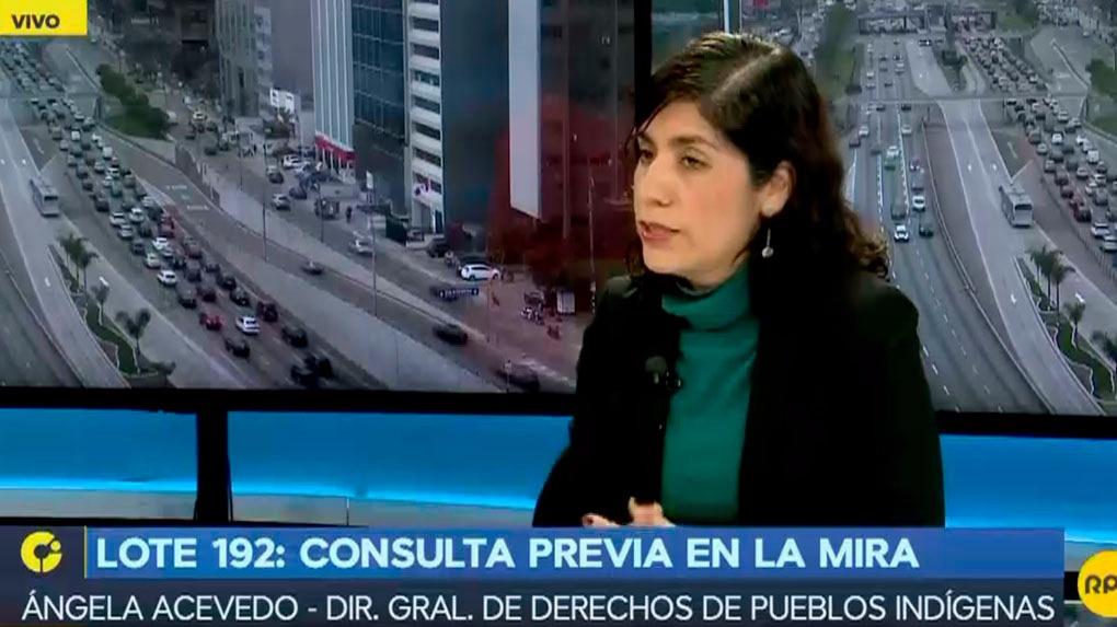 Ángela Acevedo del Ministerio de Cultura explica la posición del Gobierno sobre el pedido de las comunidades indígenas de Loreto.