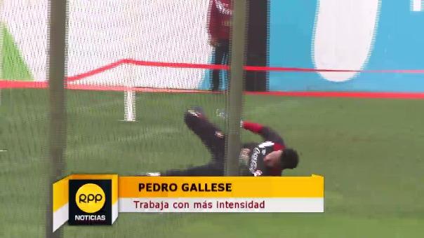 Pedro Gallese mostró que está mucho mejor de la mano en los entrenamientos.
