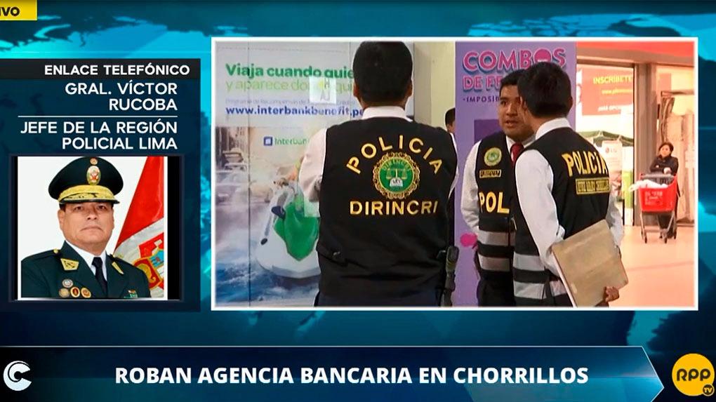 El jefe de la Región Polical Lima, Víctor Rucoba informó que esperan los videos de las cámaras de vigilancia para la investigación del caso.