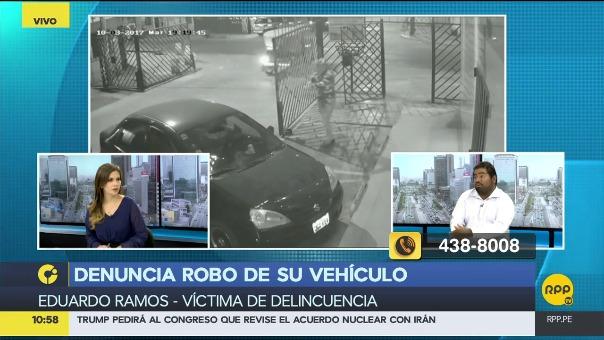 Conductor se presentó en los estudios de RPP Noticias para denunciar el hecho violento que le tocó vivir el martes 3 de octubre.