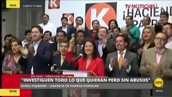 Keiko Fujimori criticó al fiscal que la investiga por el caso cocteles y aseguró que hay