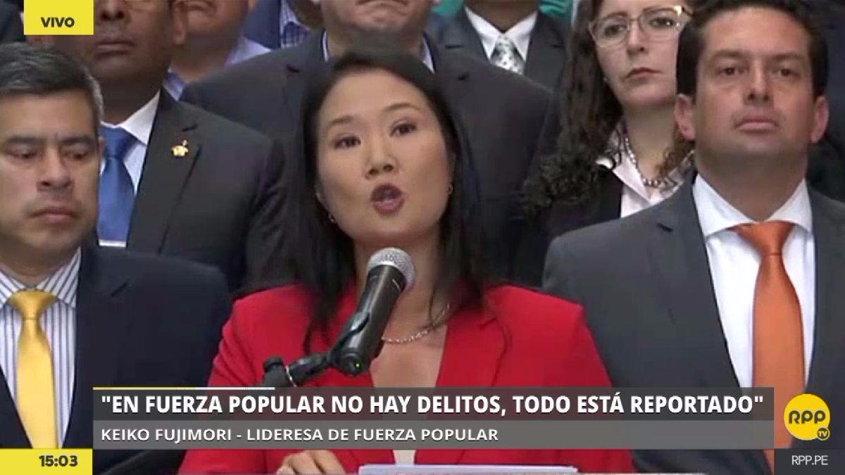 """Keiko Fujimori: """"Ni Fuerza Popular ni yo somos una organización criminal"""""""