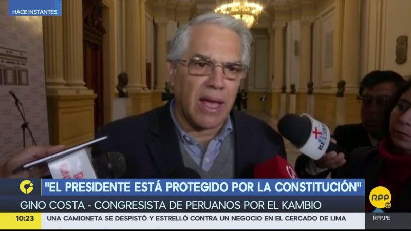 Gino Costa respaldó la decisión del presidente de no recibir en Palacio a la Comisión Lava Jato.