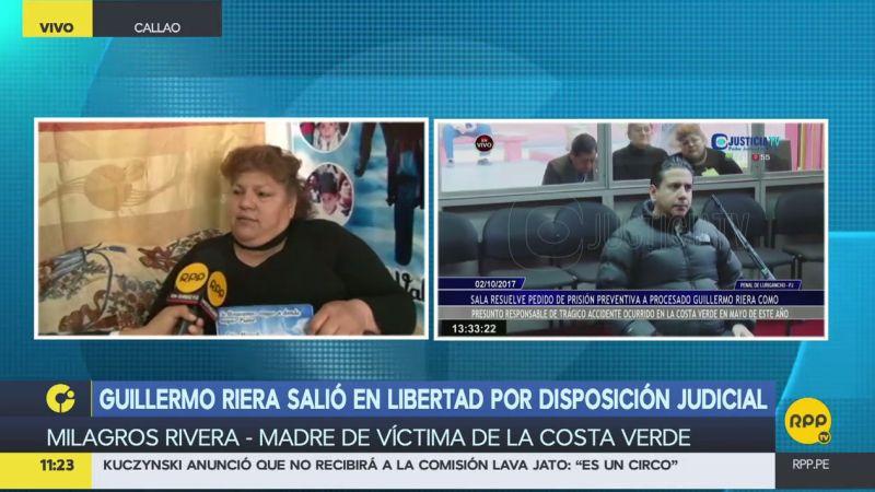 Milagros Rivera se mostró indignada tras conocer la liberación del empresario Guillermo Riera.