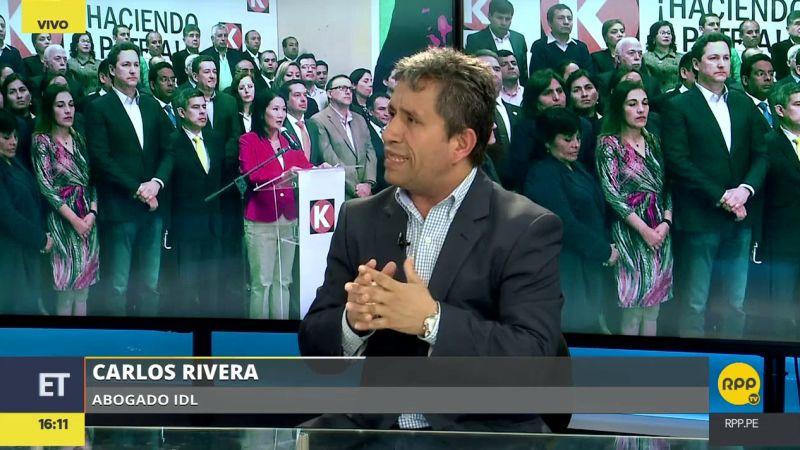 """Carlos Rivera consideró que Keiko Fujimori le ha """"declarado la guerra"""" al Ministerio Público."""