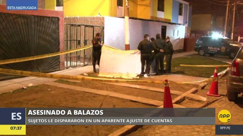 Hombres armados acribillaron a Manuel Bocanegra García en la urbanización Santa Marina Sur.