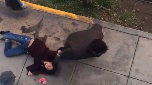 El video de la agresión fue compartido por la vecina de Micaela.