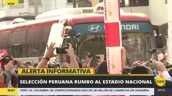 Revive la llegada de la Selección Peruana al Estadio Nacional.