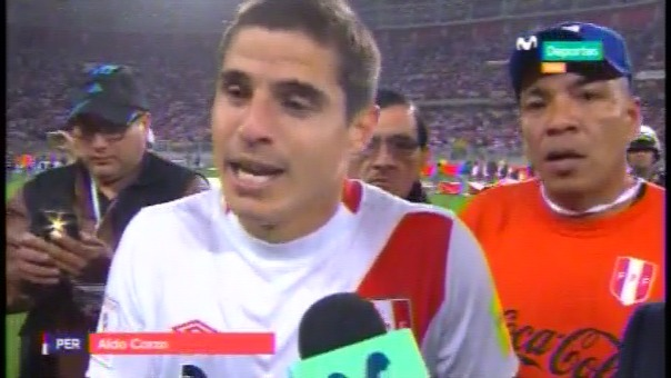 Escucha las declaraciones de Aldo Corzo al final del partido.