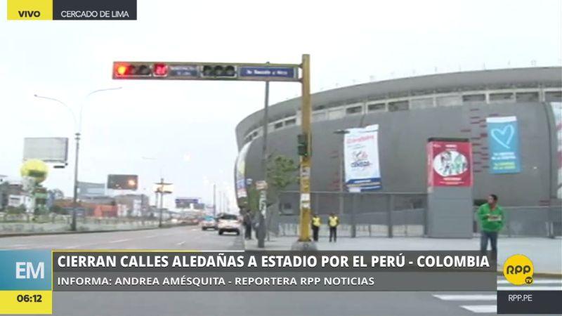 Desde las 6:00 a.m. están cerradas las calles aledañas al Estadio Nacional.