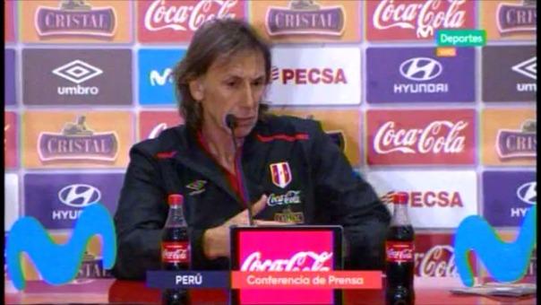 Escucha la conferencia de Ricardo Gareca tras el empate a uno con Colombia.