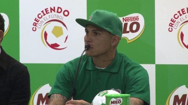 Paolo Guerrero habló de su tiro libre ante Colombia en el Estadio Nacional.
