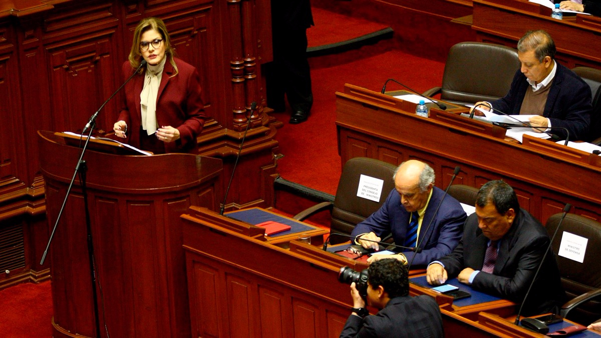 Mira el inicio del discurso de Mercedes Aráoz.