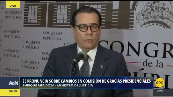 Enrique Mendoza habló sobre los cambios en la Comisión de Gracias Presidenciales desde el Congreso.