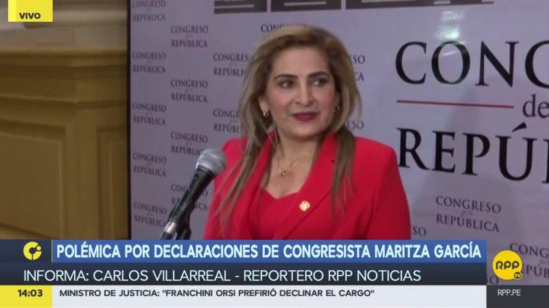 Maritza García reafirmó que sus declaraciones fueron tergiversadas.