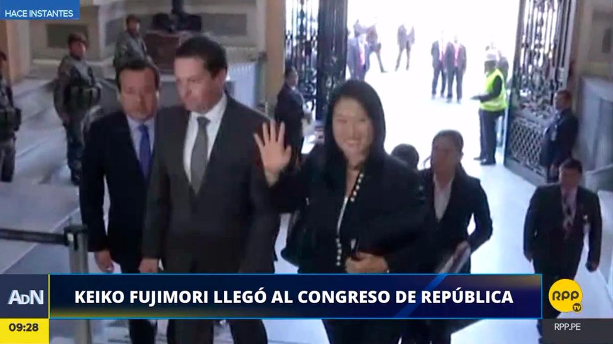 Keiko Fujimori se presenta ante la comisión Lava Jato del Congreso