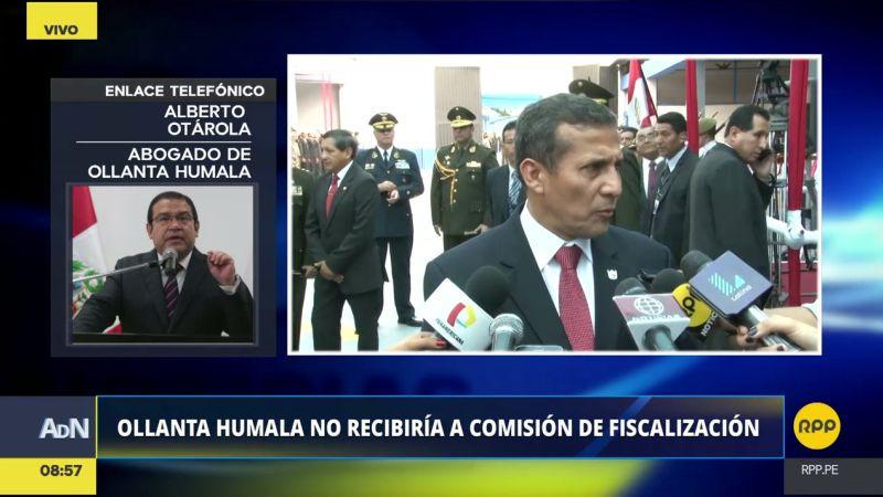"""Alberto Otárola consideró que las comisiones que investigan a Ollanta Humala están """"absolutamente politizadas"""""""