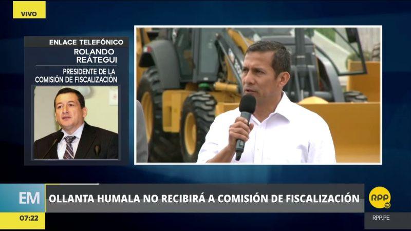 Rolando Reátegui adelantó que su Humala los desaira, volverán a citarlo pero ahora de grado o fuerza.