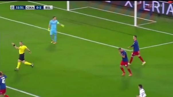 CSKA Moscú 0-2 FC Basel.