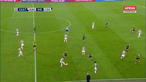 Juventus 2-1 Sporting Club.