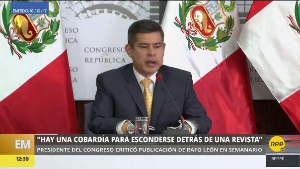 Estas fueron las declaraciones de Galarreta sobre Rafo León.