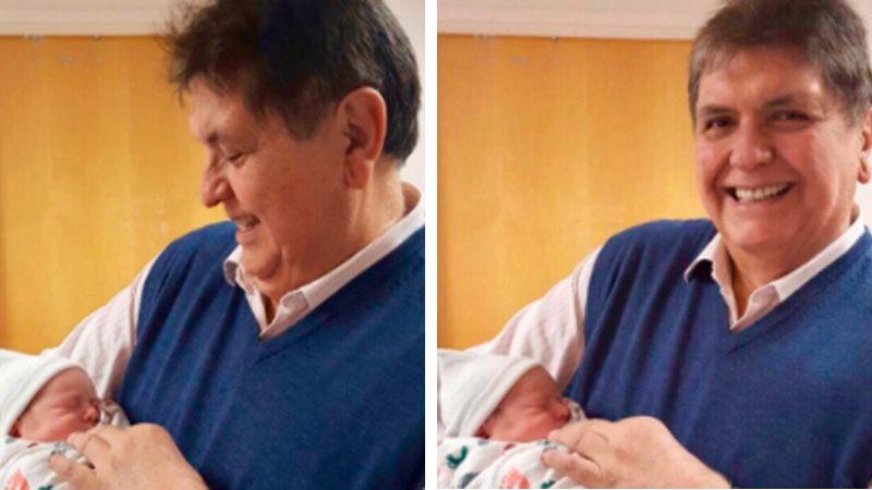 El expresidente viajó a Nueva York para acompañar a su hija durante el nacimiento de Sebastián.