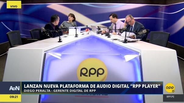 Diego Peralta, gerente de Medios Digital del GRUPORPP, explicó los beneficios de RPP Player