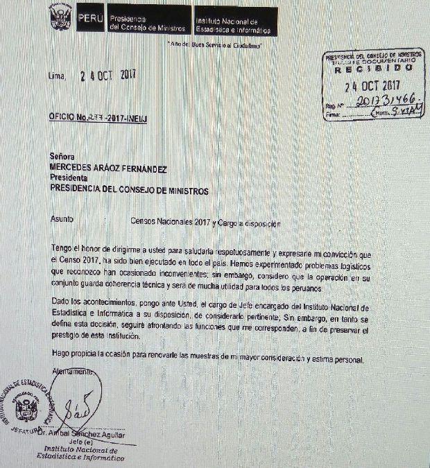 La carta con la que Sánchez anunció que puso su cargo a disposición.