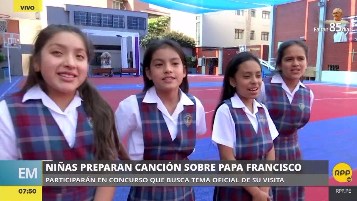 El sueño de las niñas es que su canción gane el concurso, o quede entre las finalistas, para conocer al papa Francisco.
