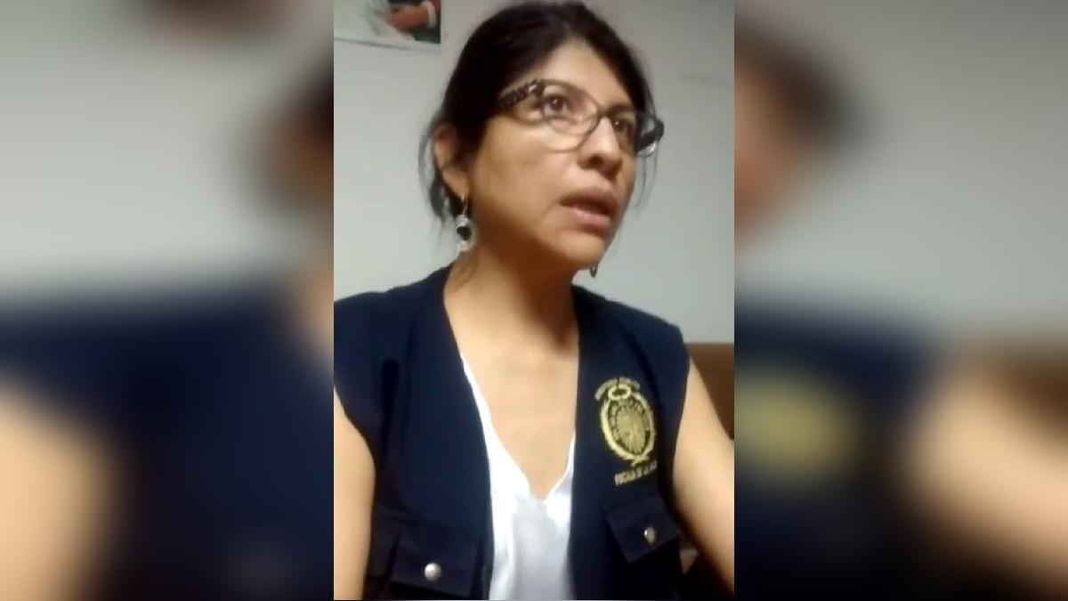 La fiscal Patricia Vegazo indicó que fue agredida durante intervención.