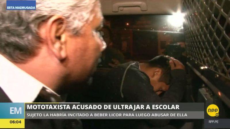 El mototaxista Noé Yaranga Quiñones es acusado de violar a una adolescente en Chorrillos.