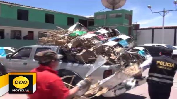 Mayor parte de material fue incautado durante operativos, algunos de ellos provenientes de la ciudad de Lima.