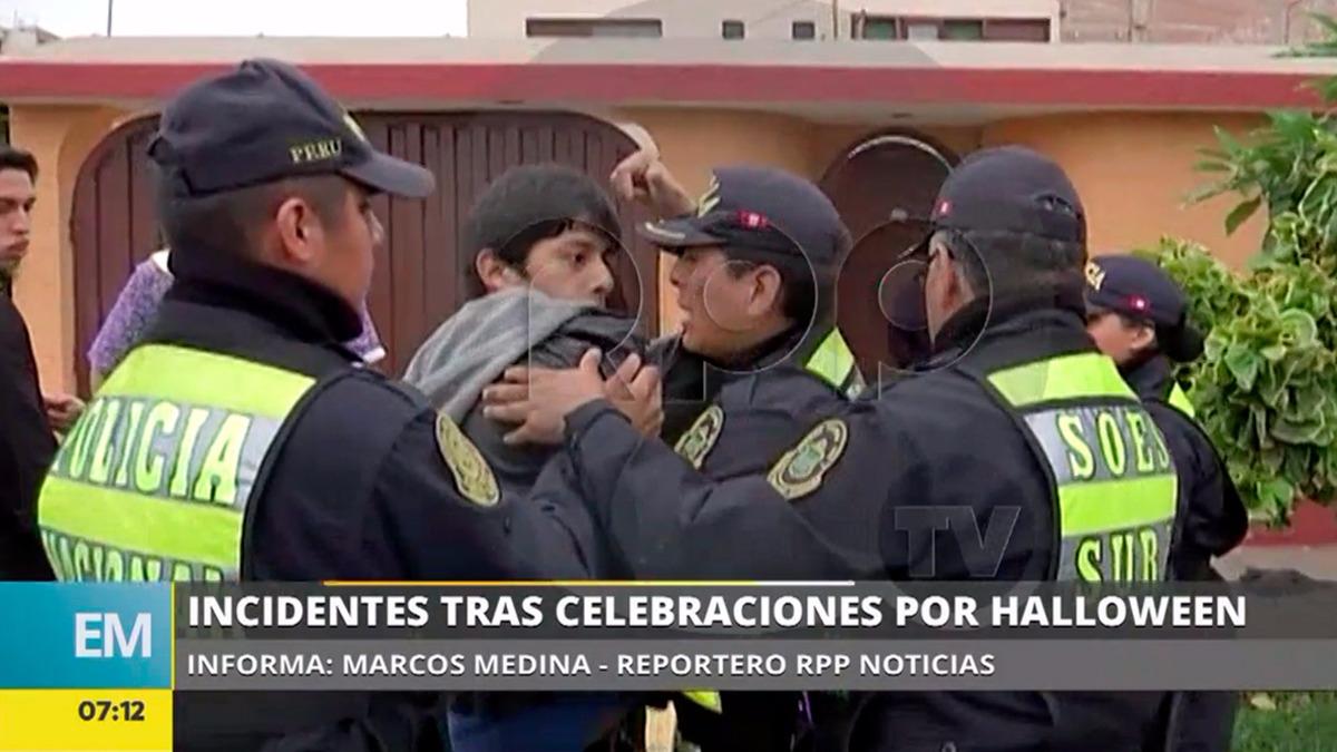 La Policía contuvo a Castro luego de que agredió a la mujer y a un camarógrafo de RPP, pero luego lo dejó ir sin intervenirlo ni identificarlo.