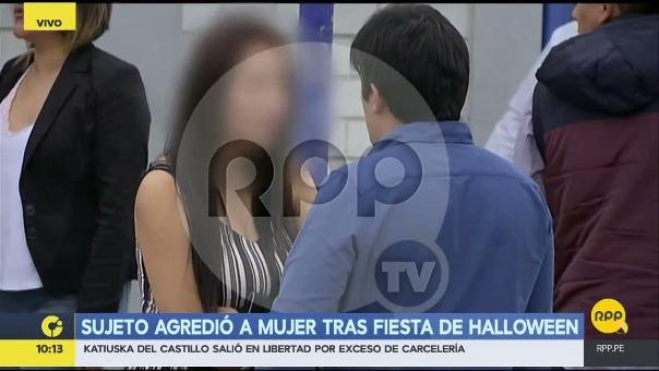 Así fue la agresión a la mujer en Chorrillos.