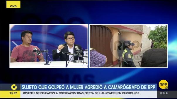 Marcos Medina, reportero que cubrió la agresión, dijo que un policía le dio un manazo cuando le pidió explicaciones sobre por qué no había detenido al agresor.