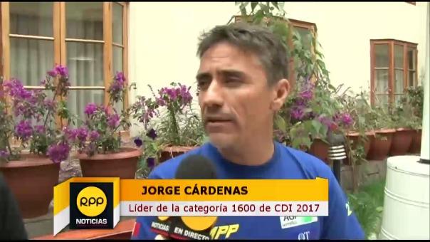 Jorge Cárdenas es el líder de la categoría 1600 de Caminos del Inca.