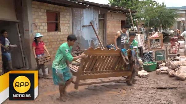 Desbordes en Picota afectaron viviendas.