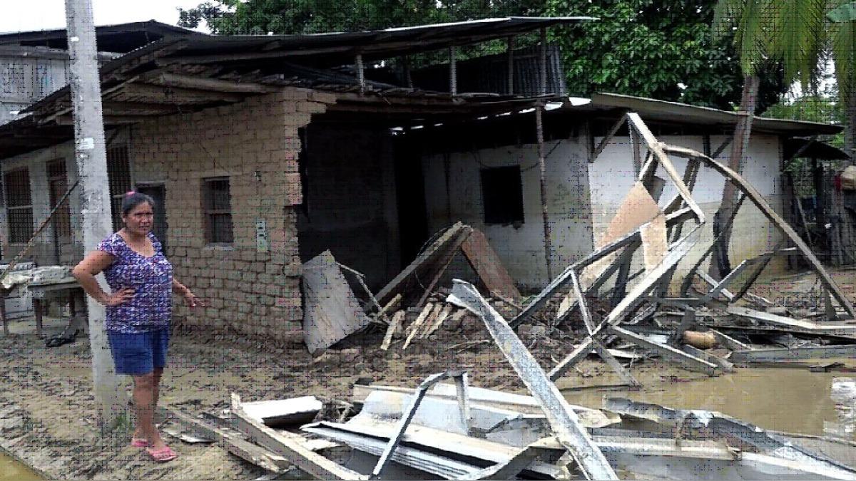 249 casas quedaron inhabitables en el distrito de Tres Unidos.