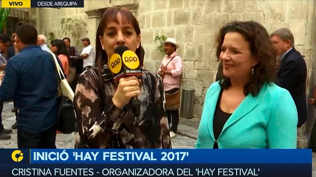 RPP Noticias estará presente en el tercer Hay Festival de Arequipa.