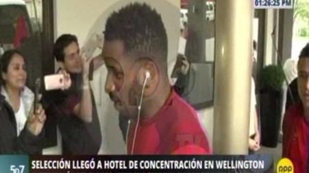 Así fue la llegada de la Selección Peruana a su hotel en Wellington.