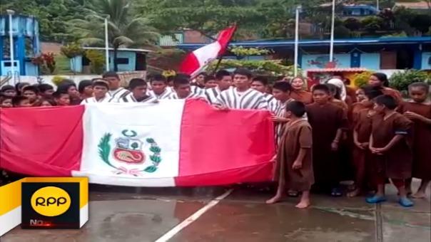 Comunidad nativa a la expectativa por el partido entre Perú y Nueva Zelanda.