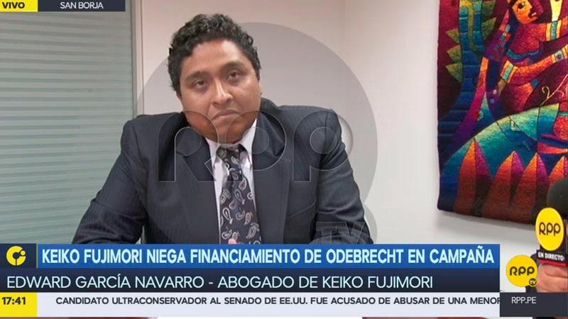 El abogado de Keiko Fujimori sostuvo que pedirán el levantamiento del secreto del interrogatorio a Odebrecht para poner fin a las especulaciones.