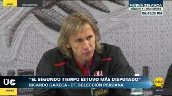 Revisa lo mejor de la conferencia de Ricardo Gareca tras el Nueva Zelanda vs. Perú.