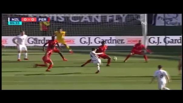Nueva Zelanda también se perdió un gol hacia el final del partido.